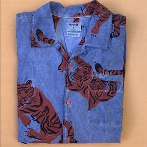 Hurley button down - Tiger